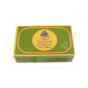 Envase de Lomo de atún en aceite de oliva 110 g Herpac