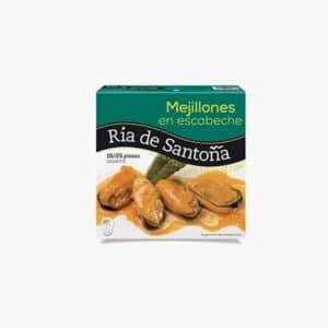 Mejillones en escabeche 18/25 piezas gigantes 523 gramos Ria de Santoña