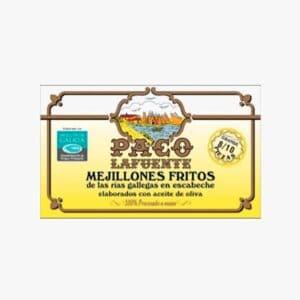 Mejillones Fritos de las rias gallegas en escabeche elaborados en aceite de oliva 8/10 Paco Lafuente