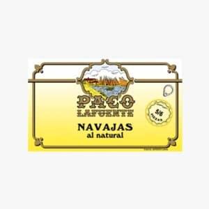 Navajas al natural de las rias gallegas 5/6 piezas 115 gramos Paco Lafuente